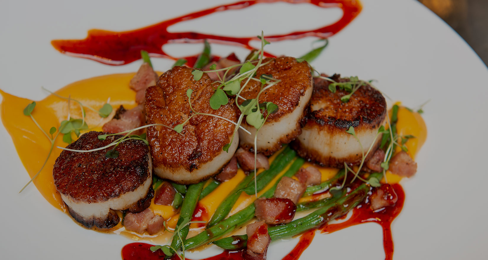 Plate of scallops