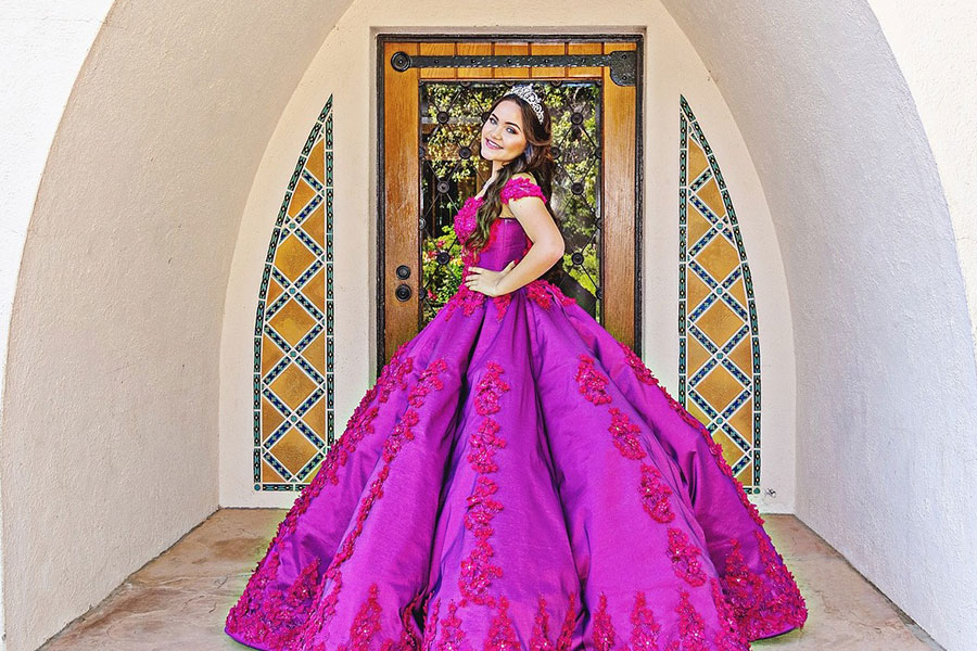 Girl in Quinceanera Gown